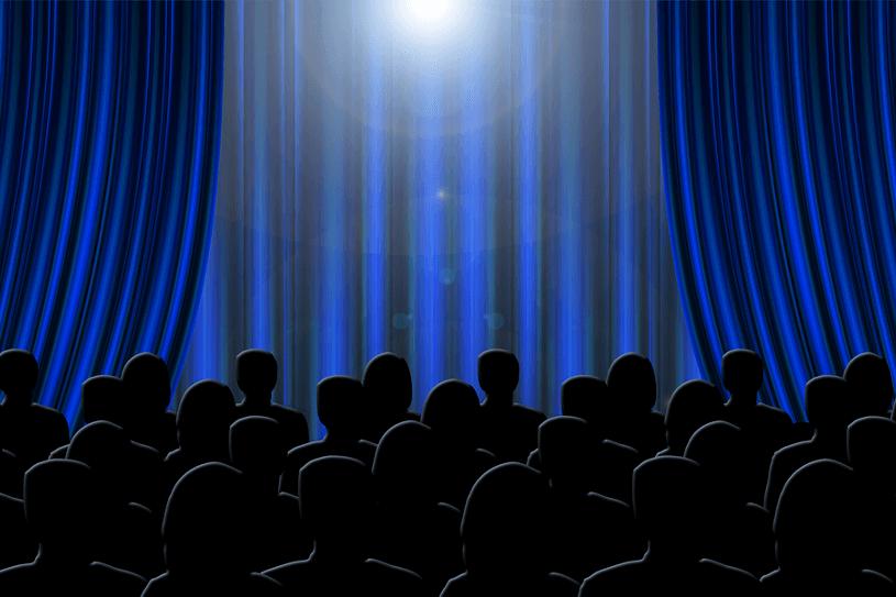 舞台と観客のイラスト